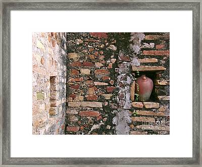 Wall With Vessel Framed Print by Laurel Fredericks
