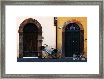 Walled City Of Lucca Framed Print