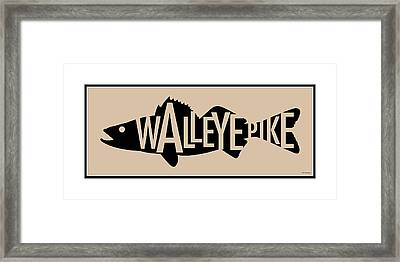 Walleye Pike Framed Print by Geoff Strehlow