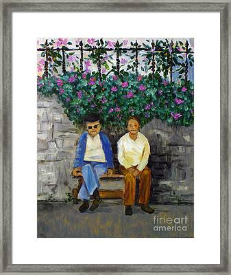 Wallflowers Framed Print by Hilary England