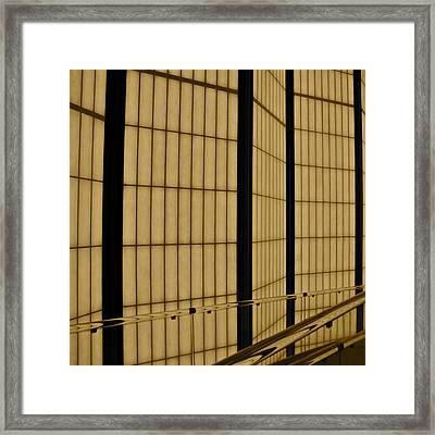 Walls Of The Pavilion For Japanese Art Framed Print by Kirsten Giving