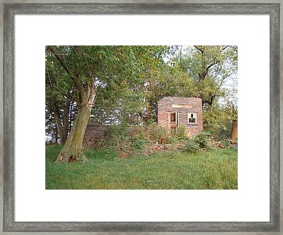 Framed Print featuring the photograph Walnut Grove School Ruins by Bonfire Photography
