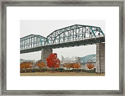 Walnut Street Bridge Framed Print by Tom and Pat Cory
