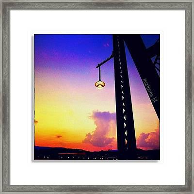 Walnut Street Sunset Framed Print