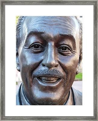 Walt Disney Bust Framed Print