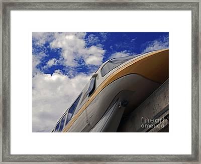 Walt Disney World - Monorail Yellow Framed Print by AK Photography