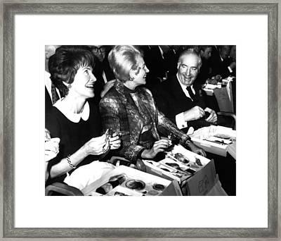 Walter Annenberg, With Nancy Reagan Framed Print by Everett