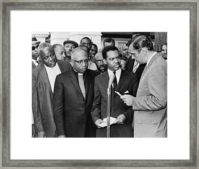 Walter Fauntroy Second From Right Framed Print by Everett