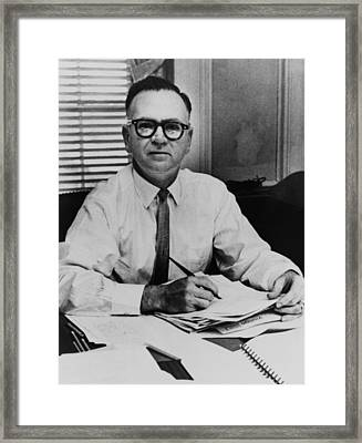Walter Jenkins, Senator Lyndon Johnsons Framed Print by Everett