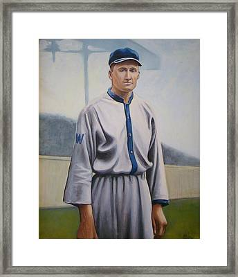 Walter Johnson Framed Print by Mark Haley