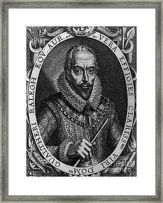Walter Raleigh, English Courtier Framed Print by Photo Researchers