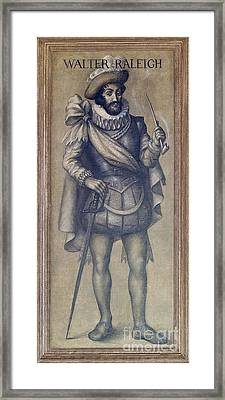 Walter Raleigh, English Explorer Framed Print by Photo Researchers