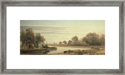 Walton On Thames Framed Print by Peter de Wint