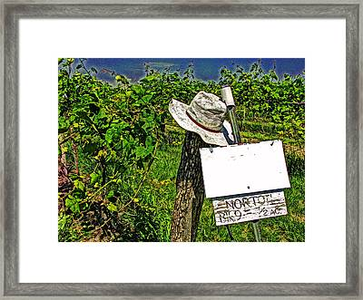 Framed Print featuring the photograph Walt's Hat by William Fields