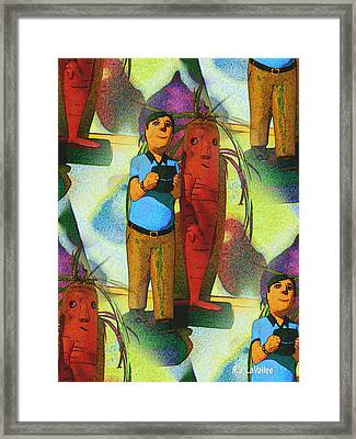 Wandering Mind Framed Print by Roland LaVallee