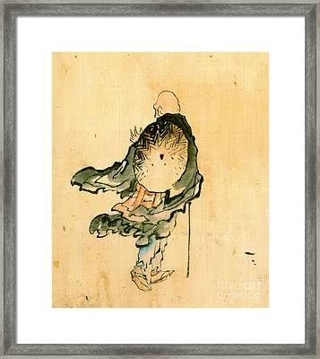Wandering Monk 1840 Framed Print by Padre Art
