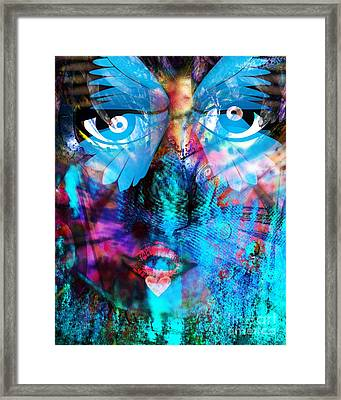 Wandering Thoughts - Untitled Desire Framed Print by Fania Simon