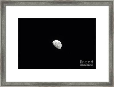 Waning Moon Framed Print by Stocktrek Images
