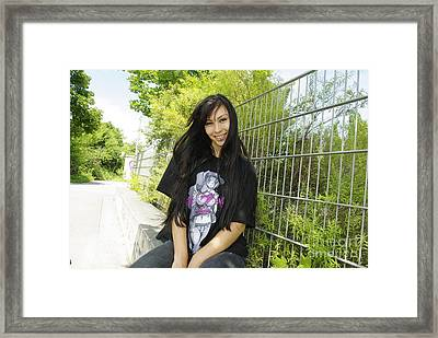 Wanita X Airforcetuan Framed Print by Tuan HollaBack
