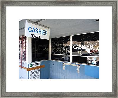 Wanted Cashier  Framed Print by Paul Washington