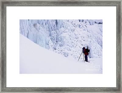 Wapta Falls Framed Print by Bob Christopher