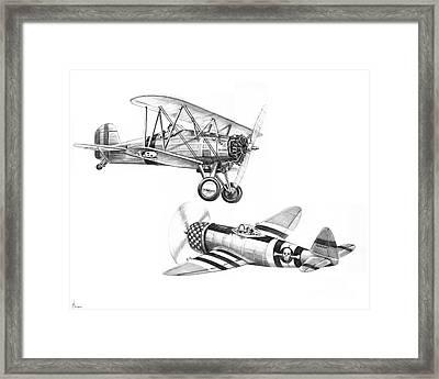 War Airplanes Framed Print