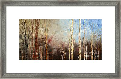 Framed Print featuring the painting War And Peace by Tatiana Iliina