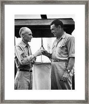 War Correspondent Ernie Pyle Framed Print