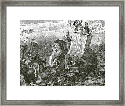 War Elephant Framed Print by Photo Researchers