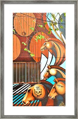 War Horse  Framed Print by Puzzles Shum