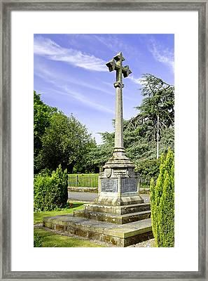 War Memorial - Barton Under Needwood Framed Print