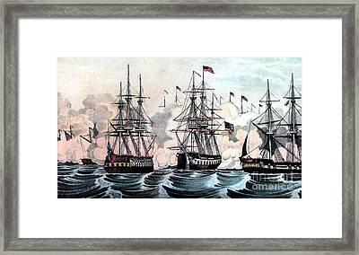 War Of 1812, American Victory At Lake Framed Print