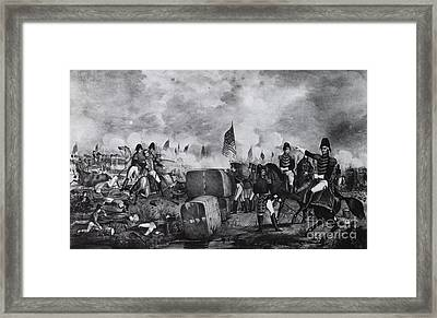 War Of 1812, Battle Of New Orleans Framed Print by Photo Researchers