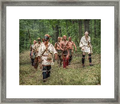 War Party French And Indian War Framed Print