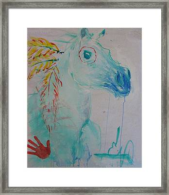 War Poney Framed Print