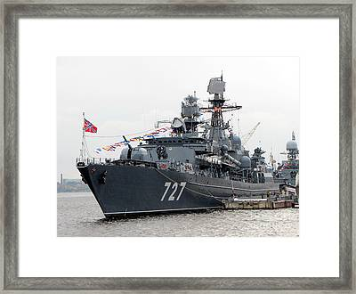 War Ship Framed Print by Yury Bashkin