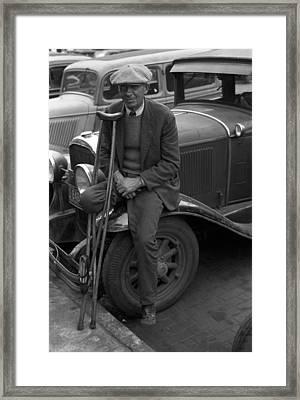 War Veteran Who Sells Pencils, A Man Framed Print by Everett
