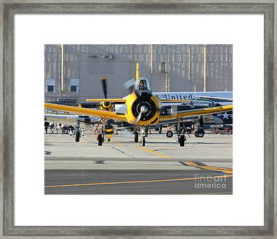 Framed Print featuring the photograph Warbird Alley by Alex Esguerra