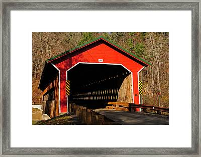 Ware Covered Bridge Framed Print by Mike Martin