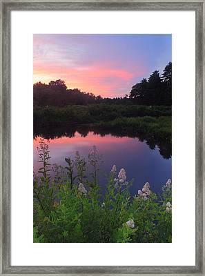 Ware River Summer Sunset Framed Print