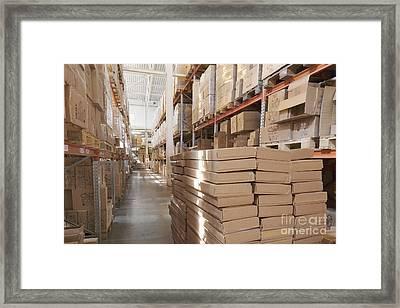 Warehouse Pallet Framed Print by Magomed Magomedagaev