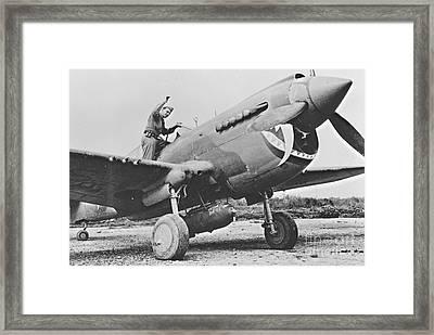 Warhawk P40 1943 Framed Print by Padre Art