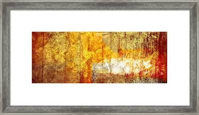 Warm Abstract Framed Print