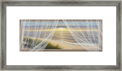 Warm Breeze Panoramic View Framed Print