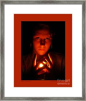 Framed Print featuring the photograph Warm Candlelight by Patricia Overmoyer