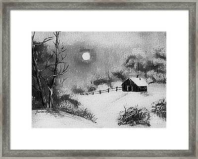 Warm Day  B And W Framed Print by Barbara Griffin