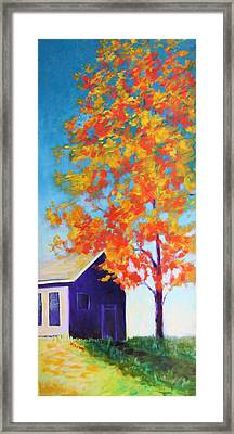 Warm Day In Fall Framed Print by Karin Eisermann