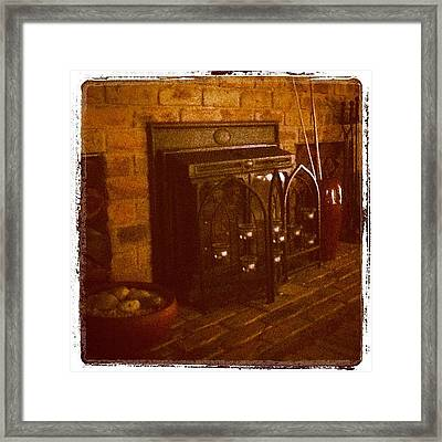 Warm Hearth Framed Print