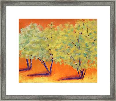 Warm Framed Print by Karin Eisermann