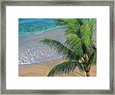Warm Maui Waters Lapping Ashore Framed Print by Kirsten Giving